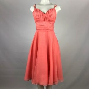 Morilee Coral Pink Bridsmaid Dress Size S